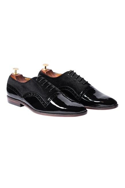 Velvet Derby Shoes