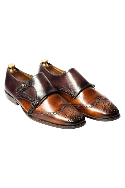 Handcrafted Brogue Double Monks