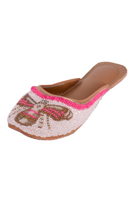 Bead Embroidered Open-Back Juttis