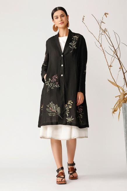 Linen Embroidered Jacket