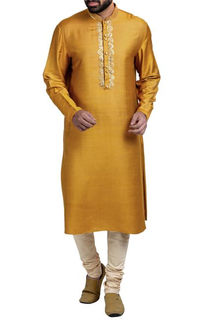 Gota embroidered kurta set.