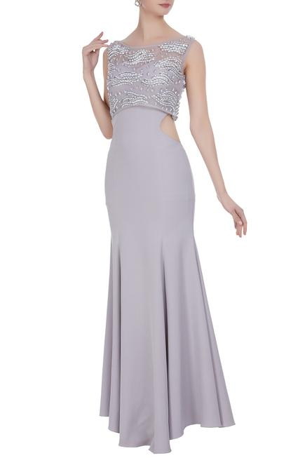 Bandeau Gown with Embellished Top