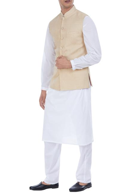 Sleeveless nehru jacket