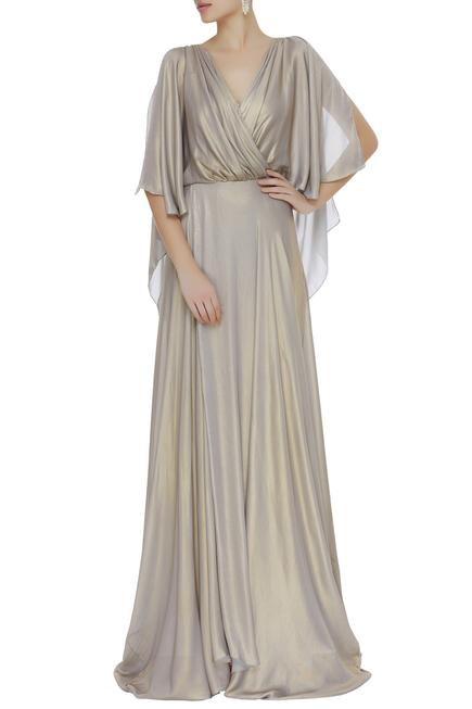 Overlap Trail Gown