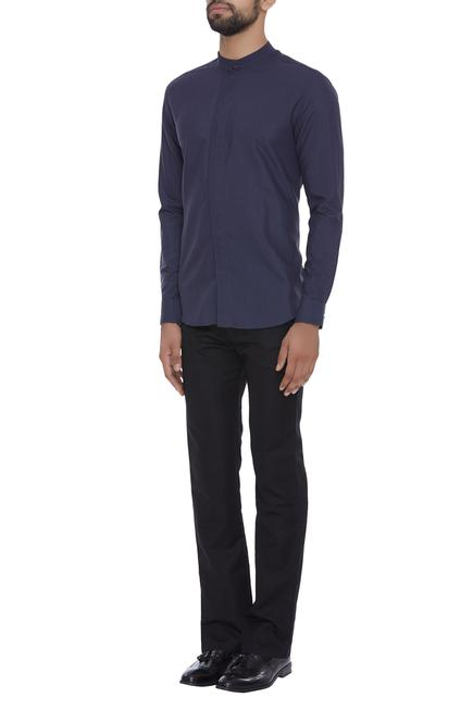 Shirt with button down placket