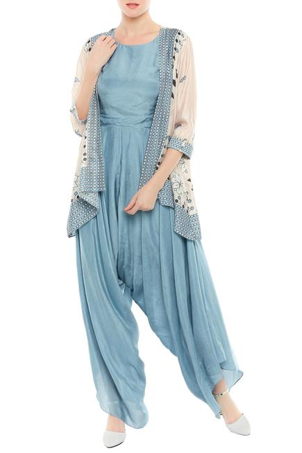 Draped Jumpsuit with Jacket