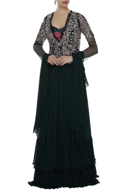 Embroidered Jumpsuit With Dupatta