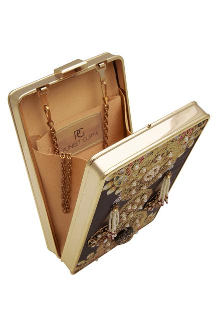 Jewelled clutch & pocket square with gift box