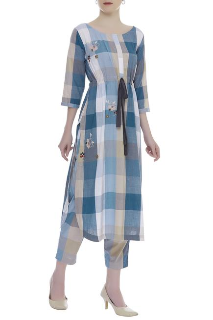 Checkered tunic with pants