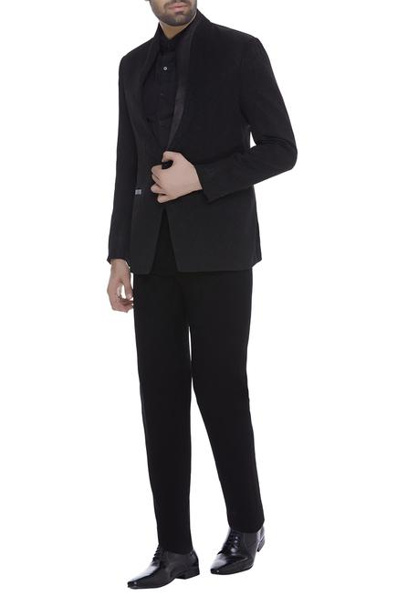 Lapel collared blazer jacket with trouser