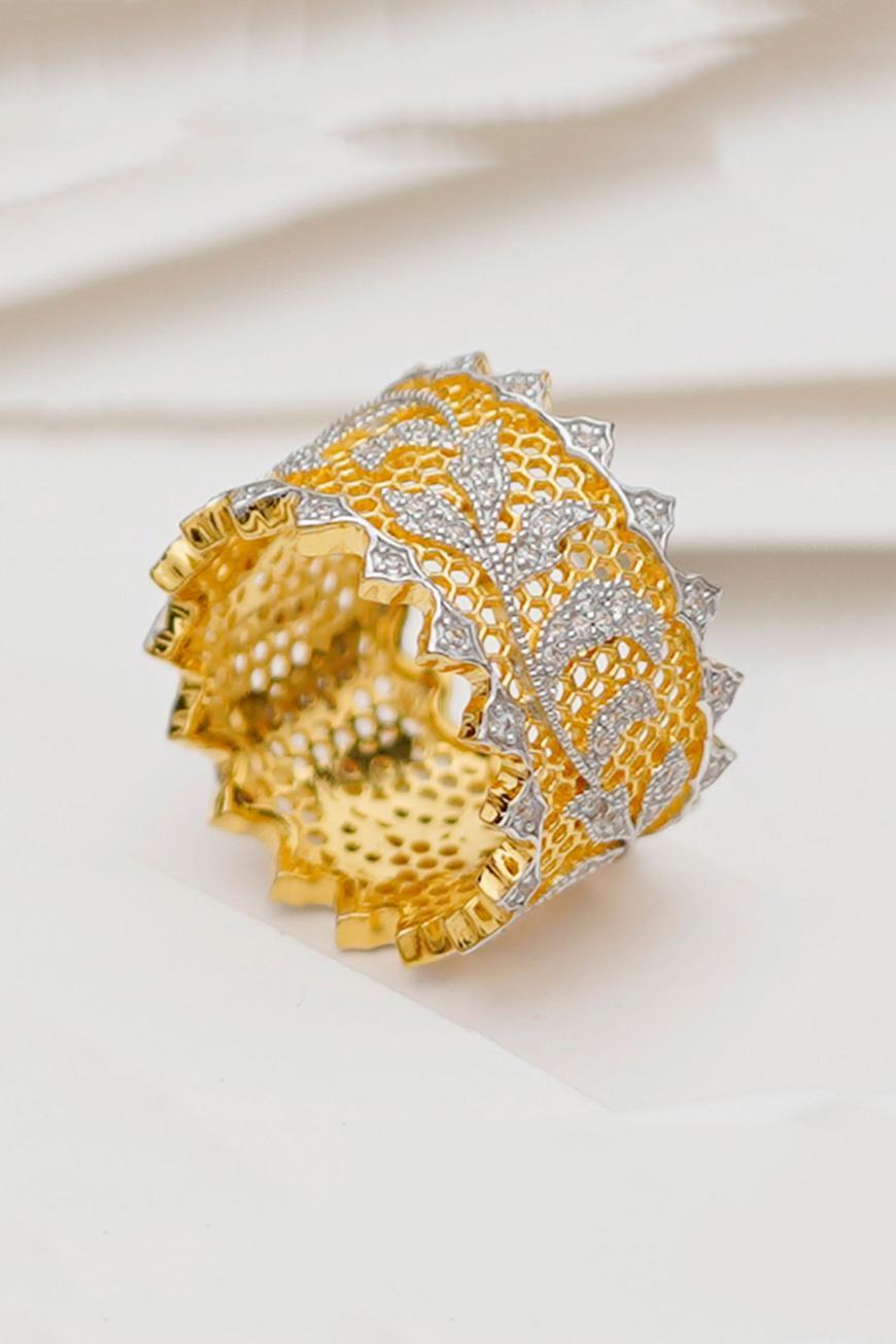 Handmade Stone Cutwork Ring