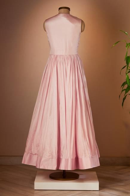 Flared Gown with Cape