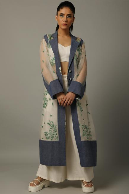 Handwoven Organza Long Jacket