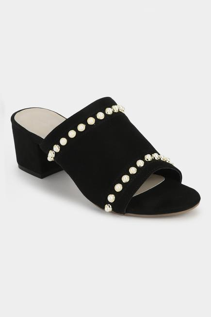 Open Toe Block Heel Mules