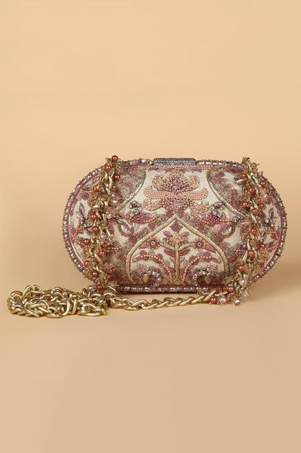 Silk Oval Clutch