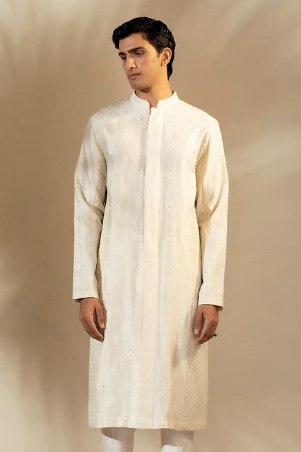 Handwoven Chanderi Embroidered Kurta