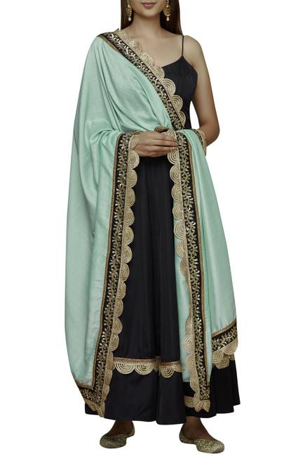 Backless Anarkali with Dupatta