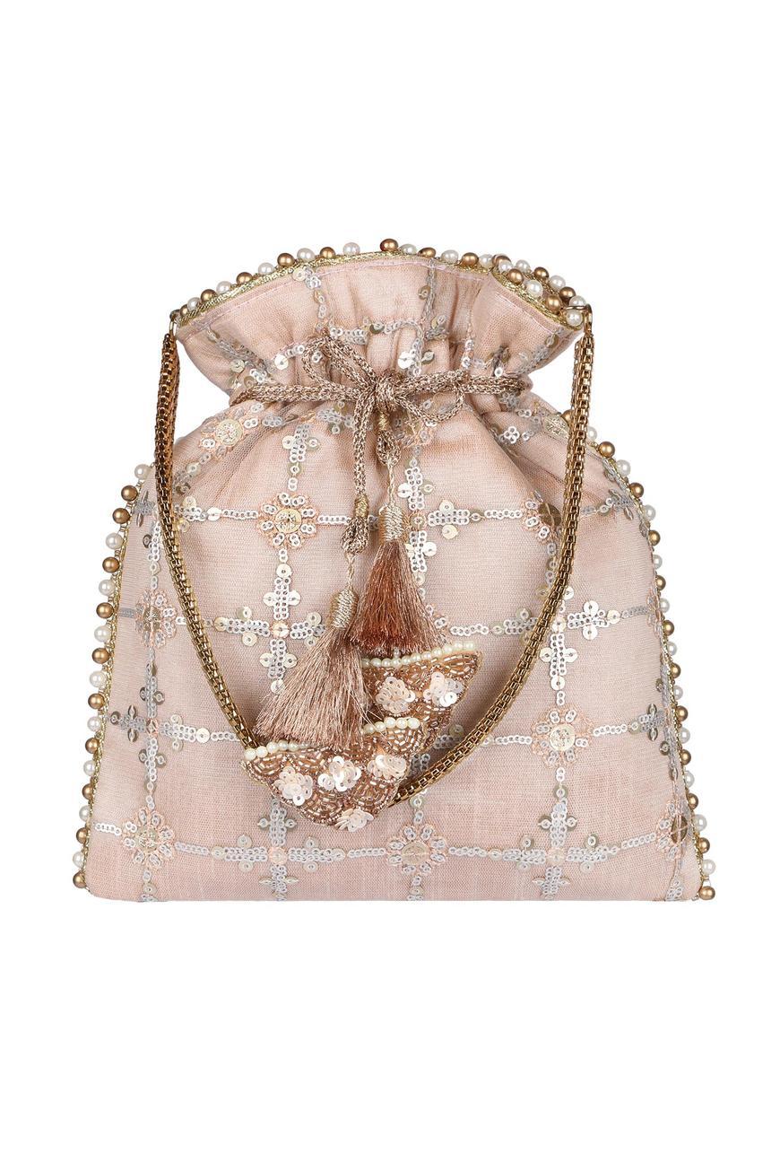 Silk Embroidered Potli Bag