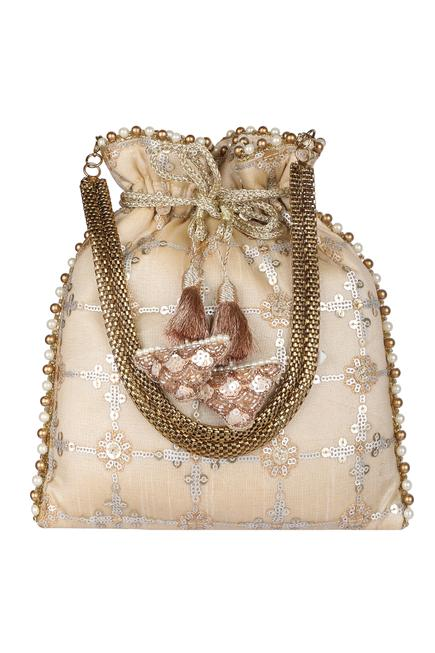 Silk Embroidered Potli Bag