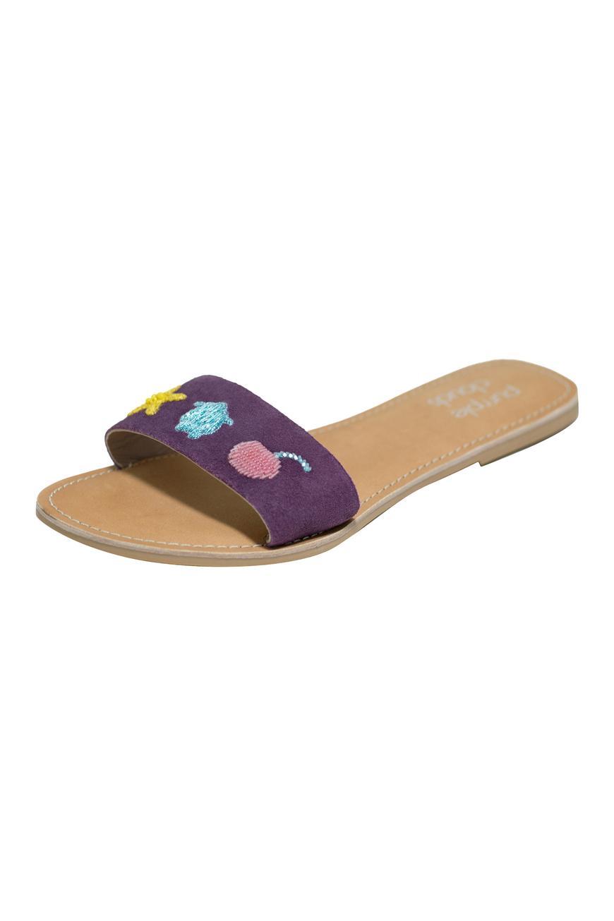 Suede Strap Sandals