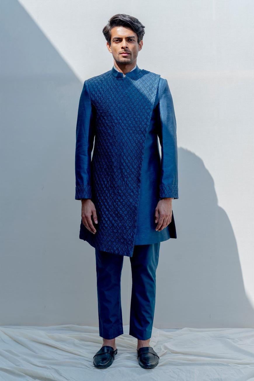 Silk Sherwani Set