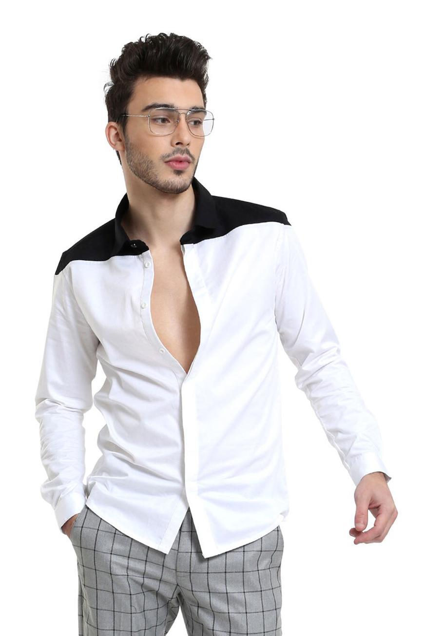 Slim-Fit Colorblock Shirt