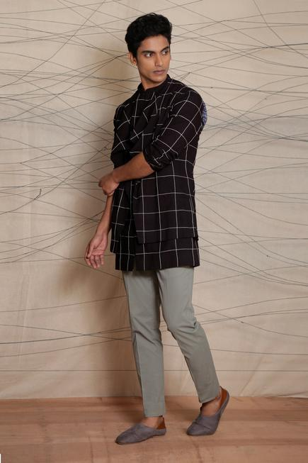 Organic Cotton Checkered Jacket