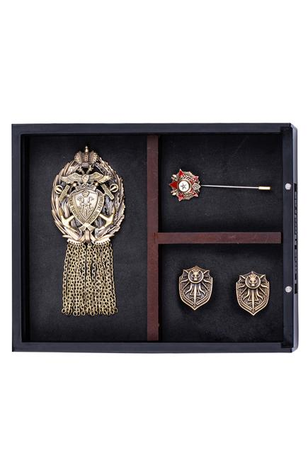 Mushy Cufflink, Brooch & Lapel Pin Set