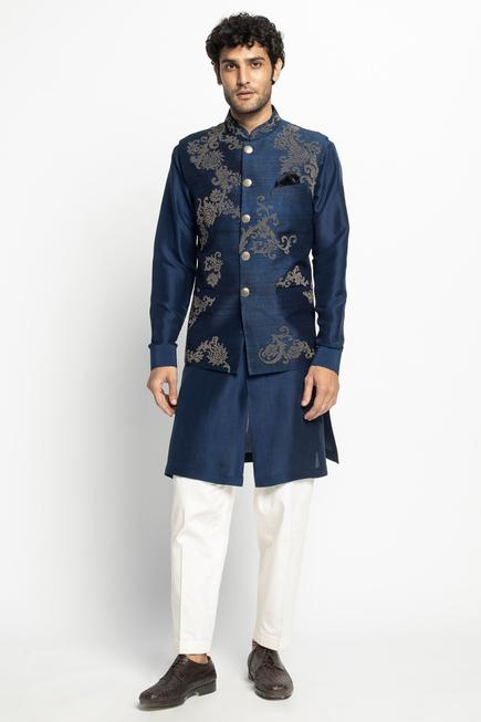 Silk Bundi & Kurta Set