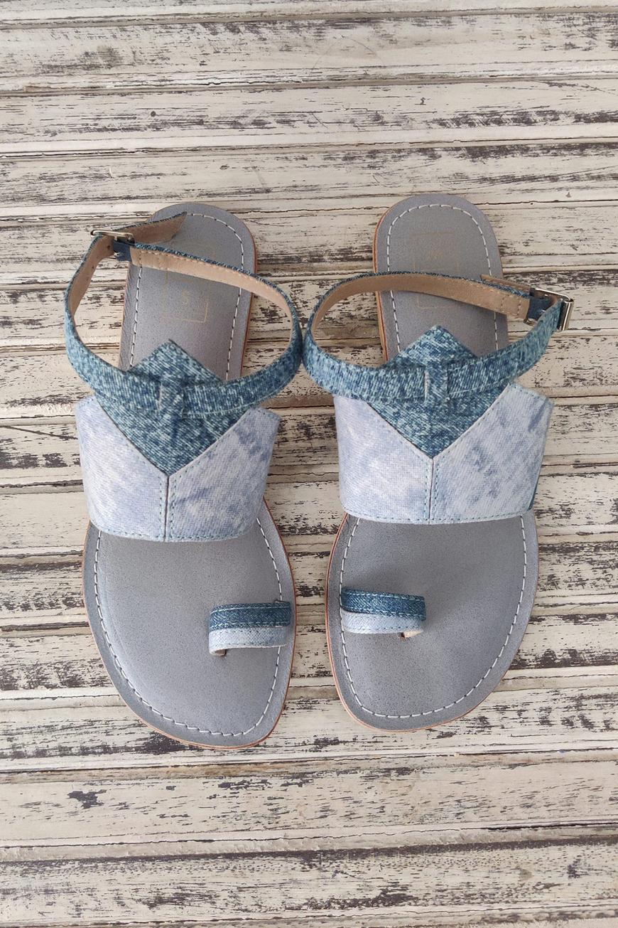 Daphne Denim Strap Sandals