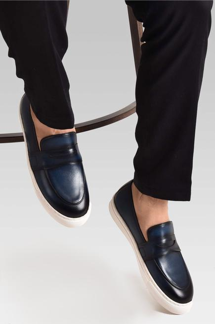 Hand Dyed Penny Loafers