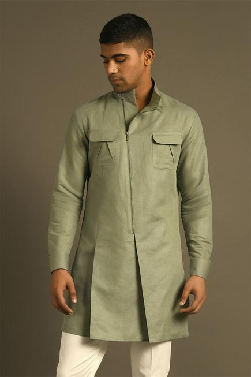 Cotton Linen Short Kurta