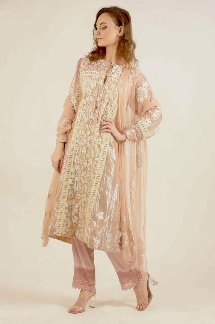 Embroidered Kurta Pant Set