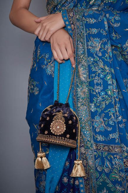Silk Velvet Potli Bag