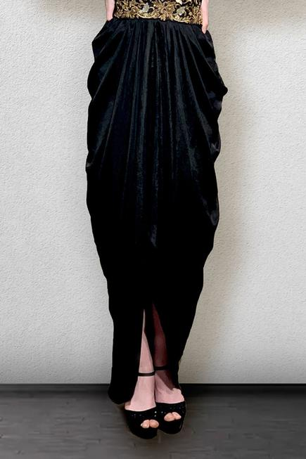 Cowl Draped Gown