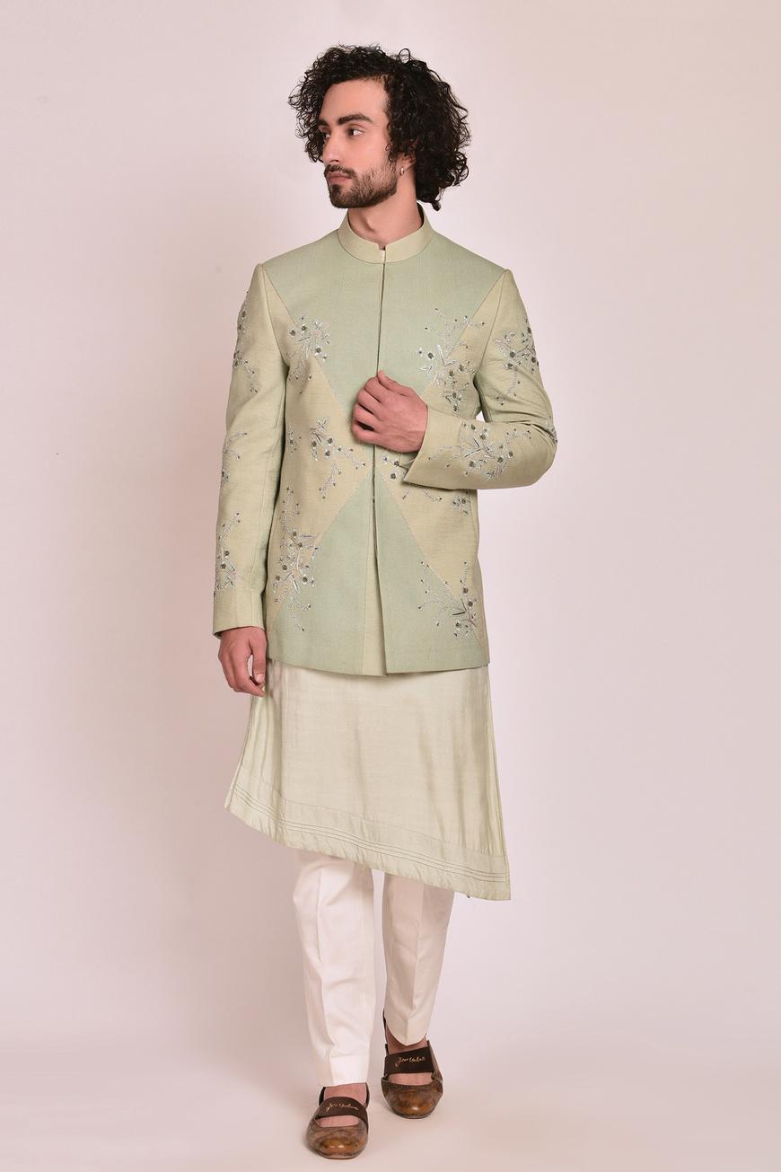 Embroidered Bandhgala Set