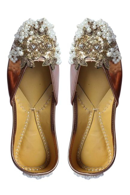Floral Bead Embroidered Juttis