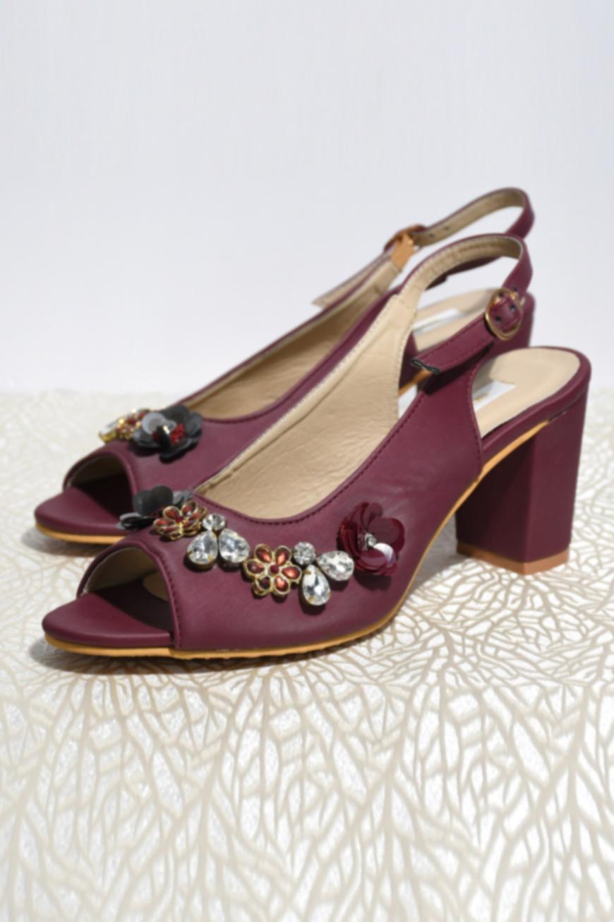 Iris Ankle Strap Block Heel Peep Toes