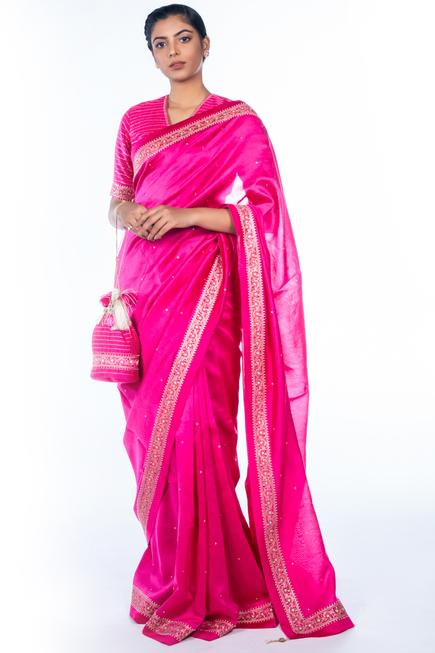 Chanderi Silk Saree with Blouse