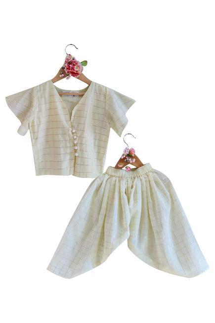 Cotton Top with Dhoti Pants