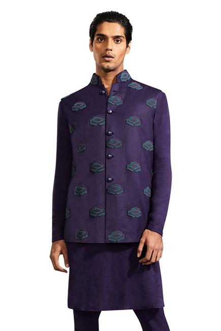 Applique Nehru Jacket