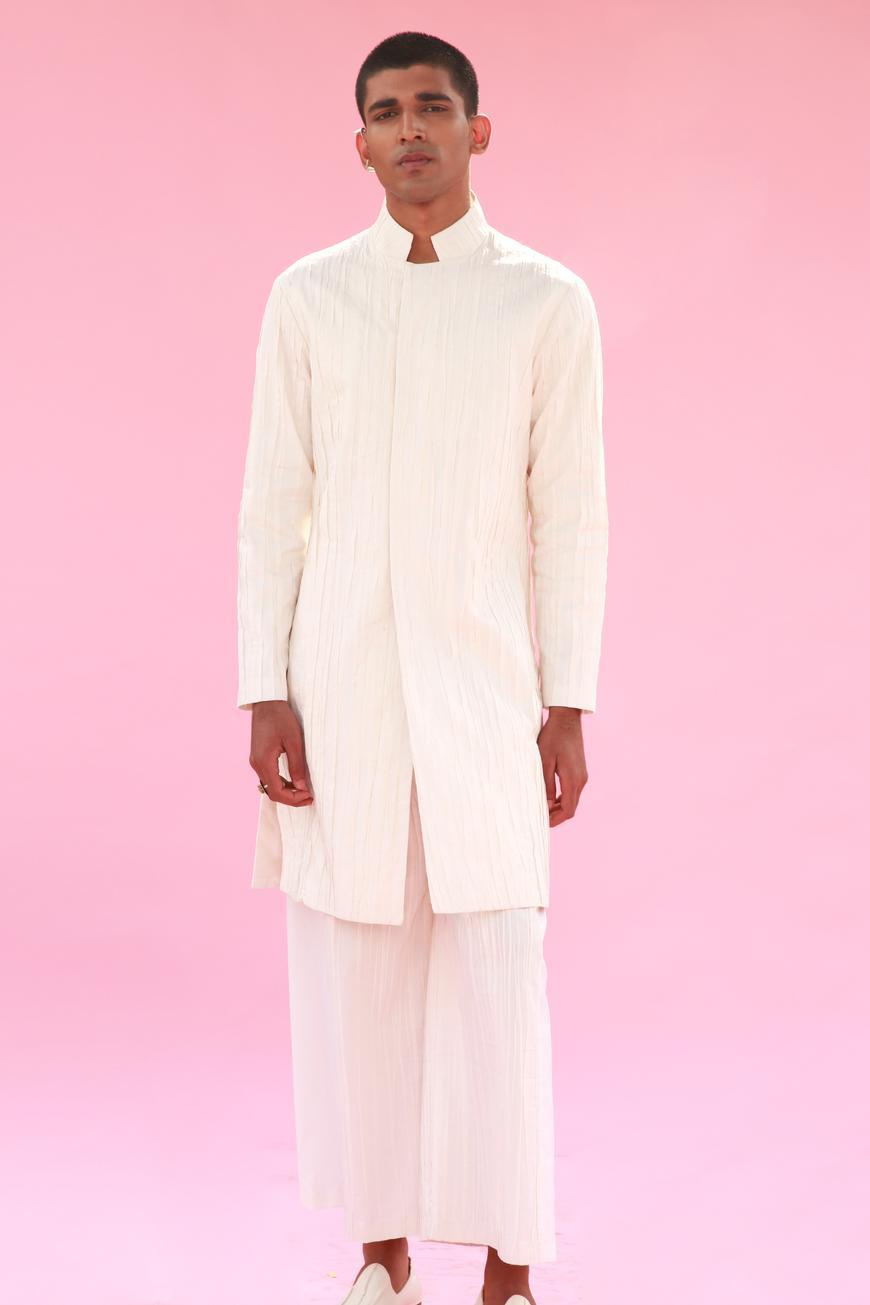 Crinkle Textured Sherwani