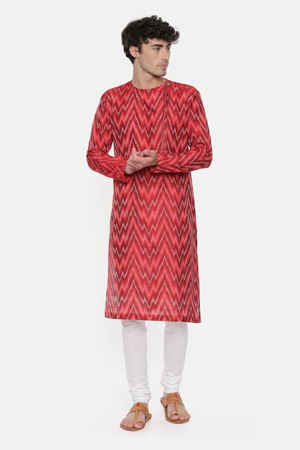 Silk Ikat Kurta Set