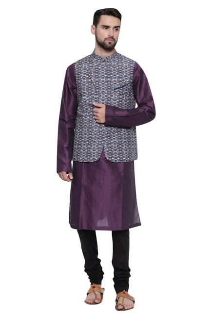 Printed nehru jacket