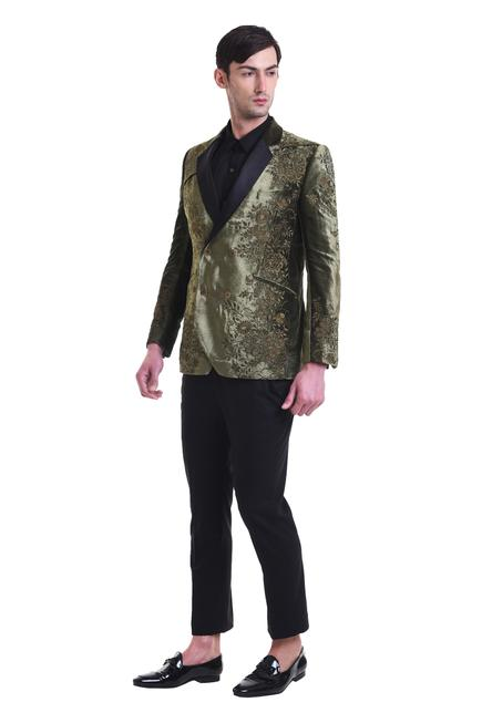 Embroidered suit & trouser set