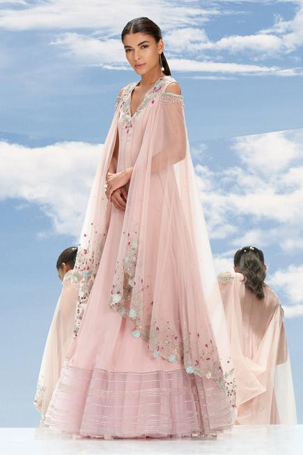 Draped Panelled Gown