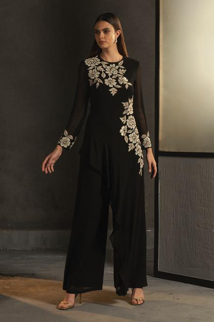 Layered Embroidered Jumpsuit