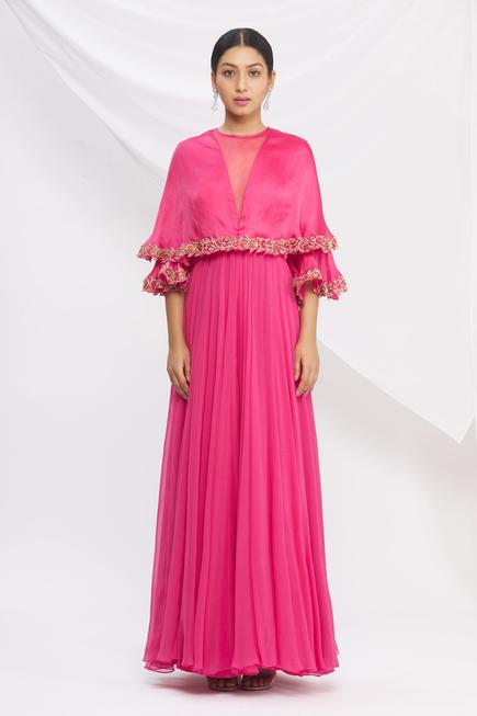 Popover Flared Gown