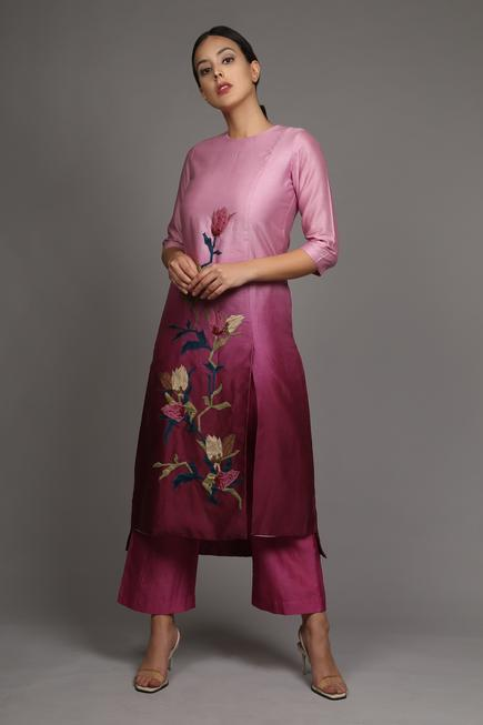 Applique Kurta & Pant Set