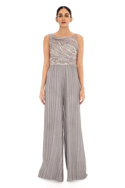 Embroidered Organza Jumpsuit
